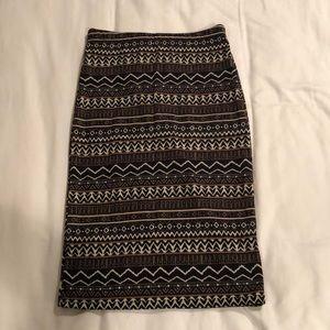 Foreign Exchange - Boho Print Pencil Skirt - S